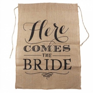 "Jutte banner ""Here comes the bride"""