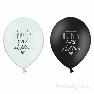 Ballon HAPPILY EVER AFTER (6 st)